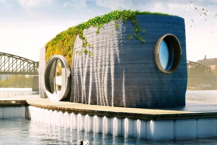 Nhà nổi xây bằng công nghệ in 3D có độ bền 100 năm