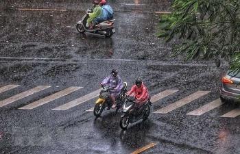 Bắc Bộ mưa, nền nhiệt giảm mạnh, sắp đón đợt mưa dông diện rộng