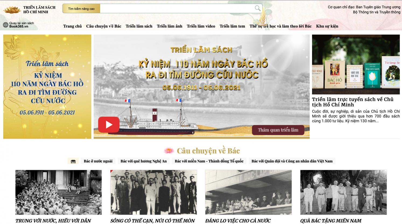 Triển lãm sách và Hội sách trực tuyến kỷ niệm 110 năm Ngày Bác Hồ ra đi tìm đường cứu nước