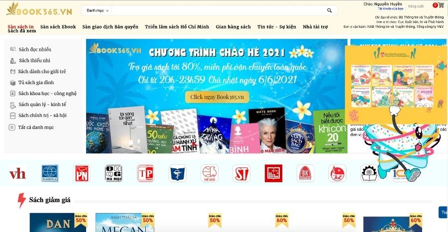 Book365 trợ giá tới 80% tại Hội sách trực tuyến