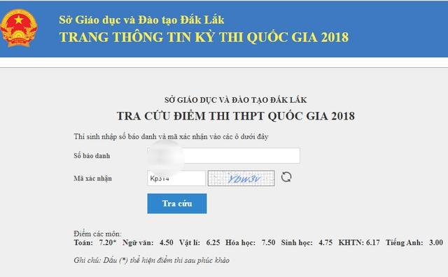 mot thi sinh phuc khao tu 06 len 72 diem toan do to mo dap an trac nghiem
