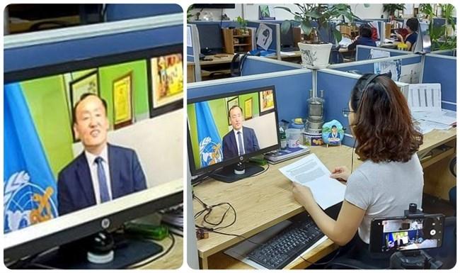 TS. Kydong Park, Trưởng đại diện tổ chức y tế thế giới (WHO) tại Việt Nam trao đổi trên VOV về công tác phòng chống dịch bệnh.