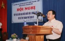 Đồng chí Nguyễn Quốc Khánh tiếp xúc cử tri tại Quảng Nam