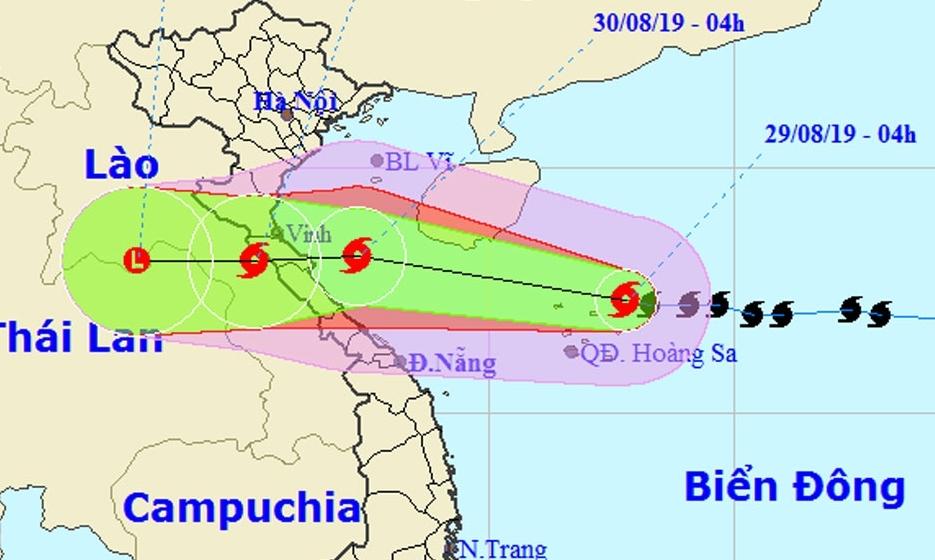 Ngày mai, bão số 4 sẽ đổ bộ vào các tỉnh từ Nghệ An - Quảng Bình