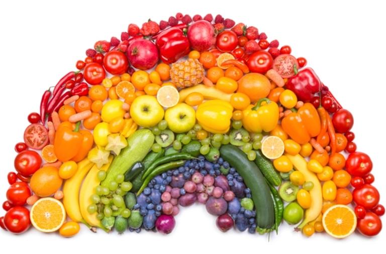 Dinh dưỡng lành mạnh theo màu sắc thực phẩm