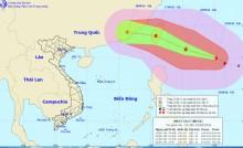Bão giật cấp 14 xuất hiện trên Biển Đông