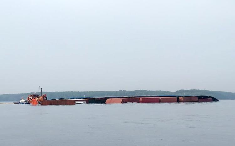 Tàu container chìm ở Cần Giờ