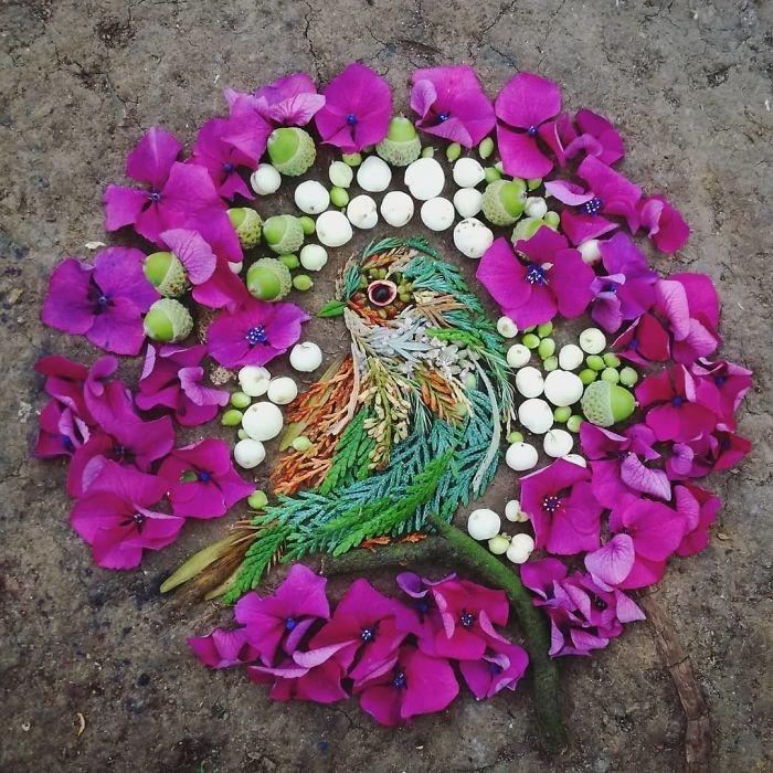 Thế giới loài chim sống động từ hoa lá