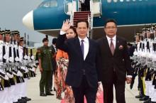 Thủ tướng Nguyễn Tấn Dũng tới Thủ đô Kuala Lumpur, Malaysia