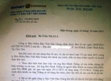 Bảo Việt Hậu Giang phát hiện vụ trục lợi hơn 343 triệu đồng