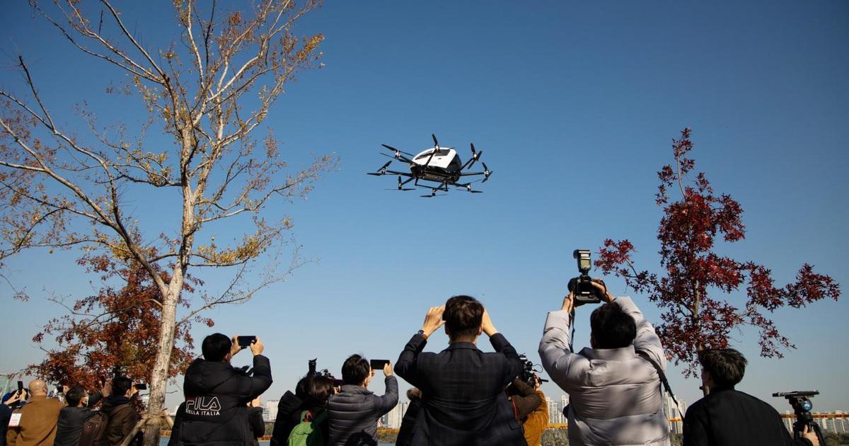 Hàn Quốc tưng bừng thử nghiệm taxi bay không người lái