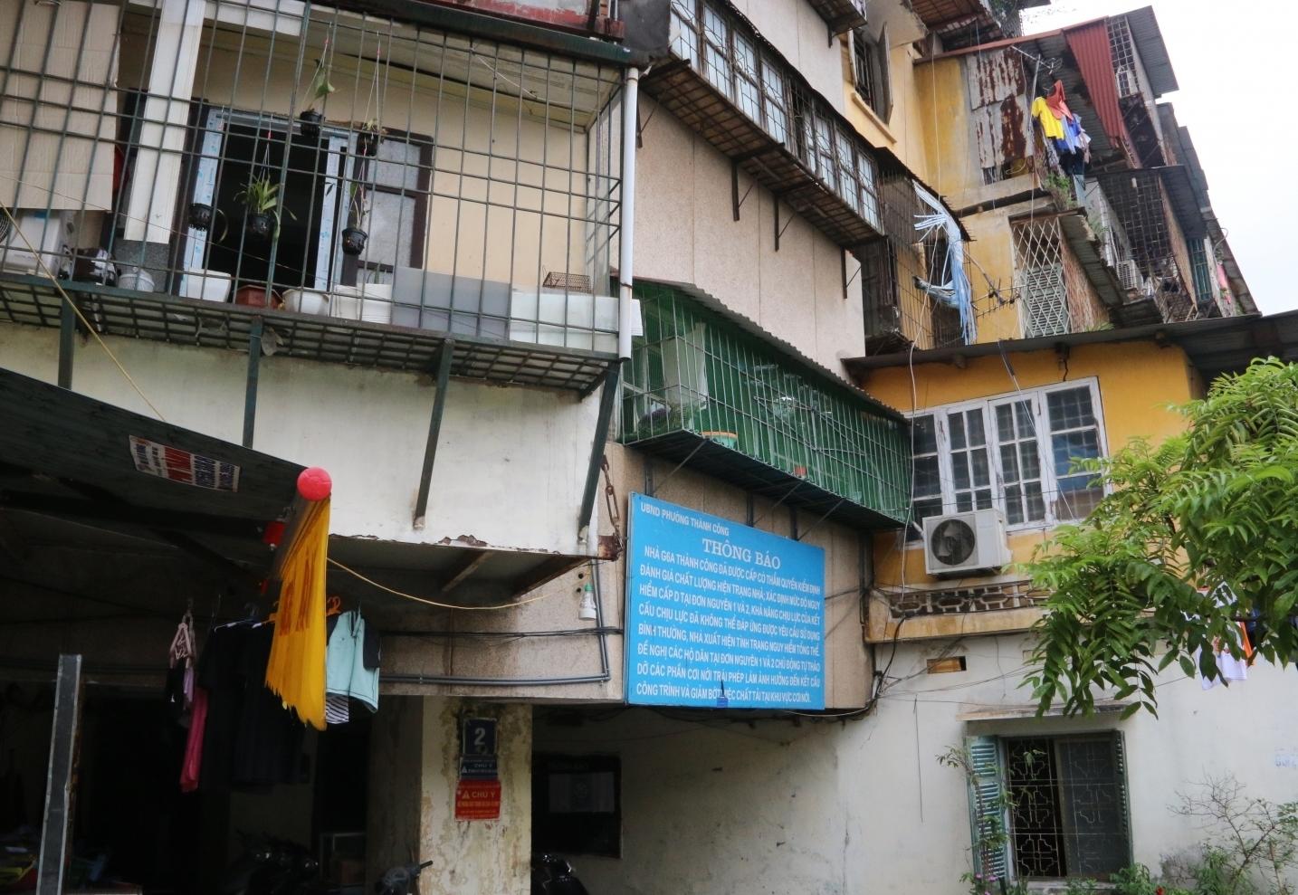 Hà Nội: Kiến nghị khẩn trương cải tạo chung cư cũ Thành Công