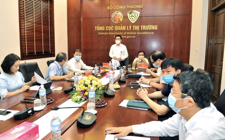 Bộ Công Thương và Bộ Nông nghiệp và Phát triển nông thôn đồng tổ chức cuộc họp trực tuyến với các Sở, Ngành của 19 tỉnh, thành phố phía Nam để bàn các giải pháp, phương án về nguồn hàng, phương thức cung ứng hàng hóa thiết yếu.