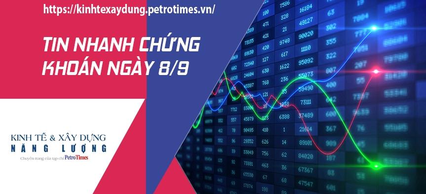 Tin nhanh chứng khoán ngày 8/9: Thị trường tiếp nhịp điều chỉnh