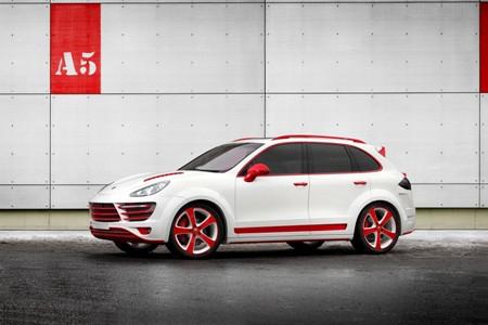 Rực rỡ Porsche Cayenne phiên bản độ Rồng đỏ