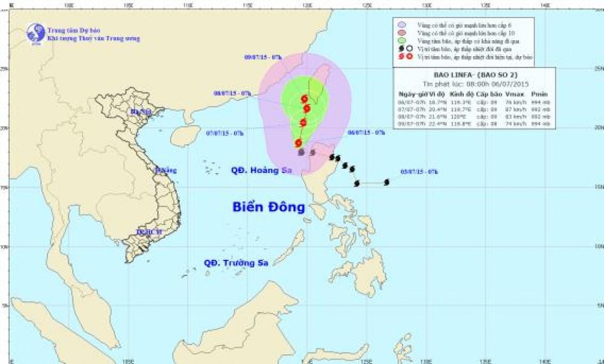 Cảnh báo rủi ro thiên tai do ảnh hưởng của bão số 2