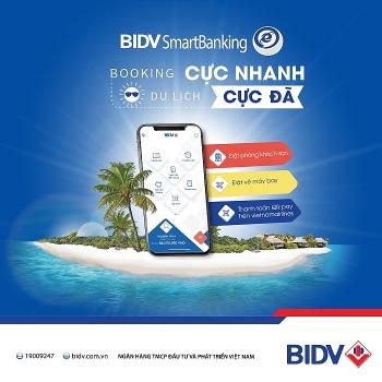 bidv smartbanking booking cuc nhanh du lich cuc da