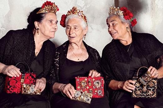 """Các cụ bà """"khuấy đảo"""" BST Xuân Hè 2015 của Docle & Gabbana"""