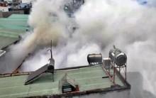 TP HCM: Xưởng gỗ đổ sập vì cháy suốt 3 giờ