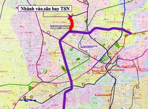 Đường sắt đô thị TP HCM sẽ rẽ nhánh vào sân bay Tân Sơn Nhất?