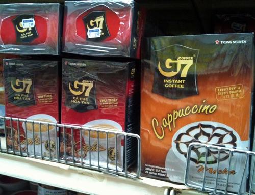 G7 của Trung Nguyên thuộc TOP 50 sản phẩm tiêu biểu Việt Nam tại Singapore
