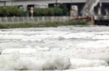Bọt nổi trắng xóa kênh Tàu Hũ