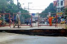 Xây cầu tạm thay thế cầu Tân Kỳ - Tân Quý bị sập