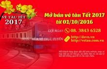 Đường sắt Sài Gòn bán vé tàu Tết Đinh Dậu 2017