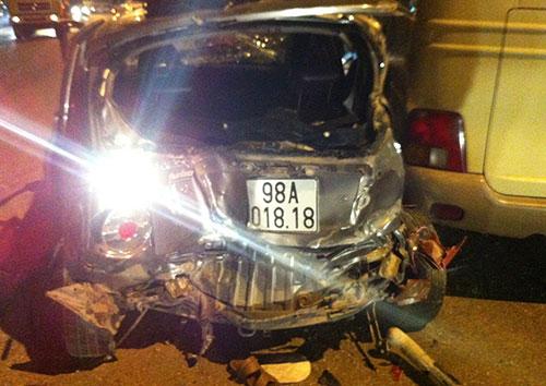 Bắc Giang: Tai nạn liên hoàn trên Quốc lộ 1A