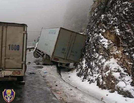 Cục CSGT khuyến cáo lái xe khi đi đường đèo trong thời điểm băng, tuyết