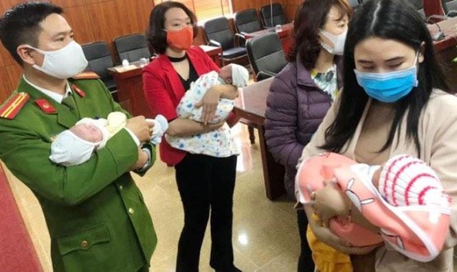 Phá đường dây mua bán trẻ sơ sinh, giải cứu 4 bé chuẩn bị bán sang Trung Quốc