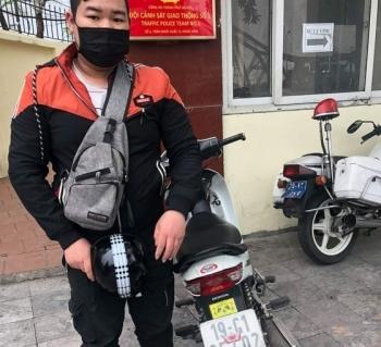 Hà Nội: Xử phạt xe máy che biển kiểm soát
