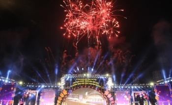 Bắn pháo hoa khai hội Giỗ Tổ Hùng Vương - Lễ hội Đền Hùng 2019
