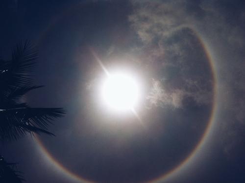 Quầng mặt trời xuất hiện tại Phú Thọ
