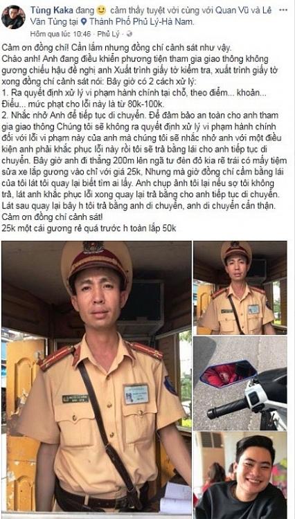 ha nam bat ngo voi cach xu ly loi khong guong chieu hau cua csgt