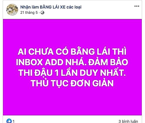 de nghi cong an dieu tra viec rao ban gplx bao thi dau tren internet