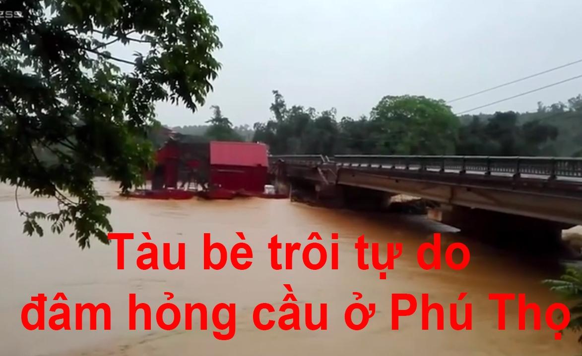 nuoc song dang cao tau be troi tu do dam hong cau o phu tho