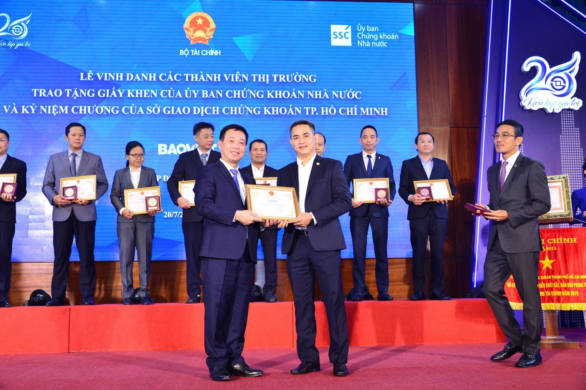 Bảo Việt được ghi nhận vì những đóng góp cho sự phát triển của thị trường chứng khoán Việt Nam