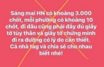 Phạt người đăng tin Hà Nội lập 3.000 chốt kiểm soát 12,5 triệu đồng