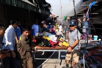 Hà Nội: Dập tắt đám cháy tại chợ Tó