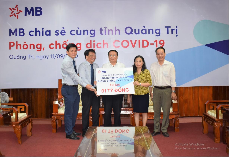 MB ủng hộ Quảng Trị 1 tỷ đồng chống dịch Covid-19