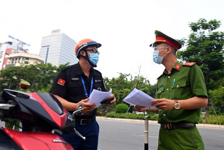 Hà Nội vẫn áp dụng giấy đi đường cũ vào ngày mai 8/9