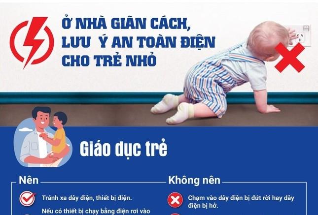 EVN khuyến cáo an toàn điện cho trẻ nhỏ