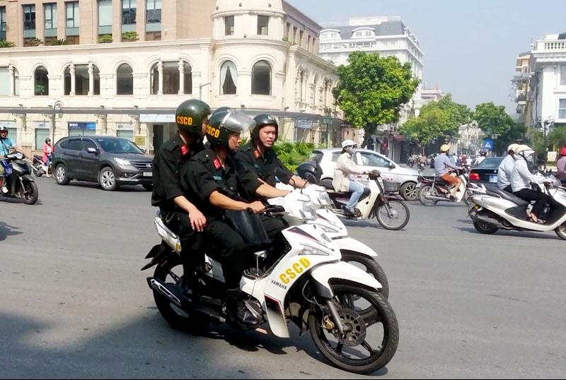 cong an ha noi huy dong 100 luc luong dam bao an ninh tran viet nam malaysia