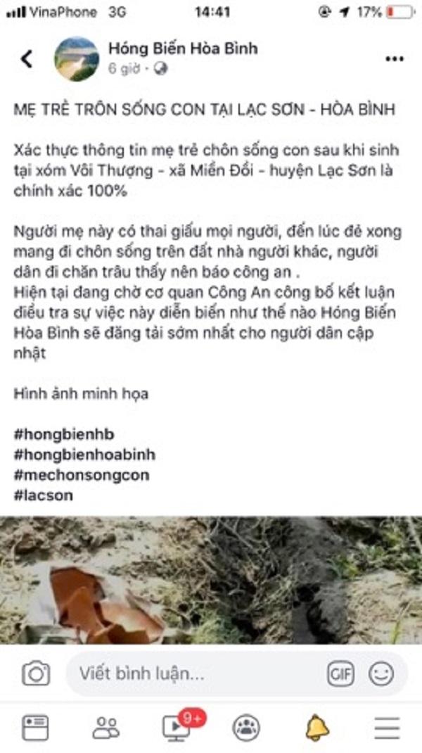hoa binh xu phat trang fanpage dang tai thong tin sai su that