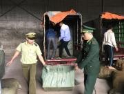 lang son xe ba banh gan logo thuong binh cho hang lau