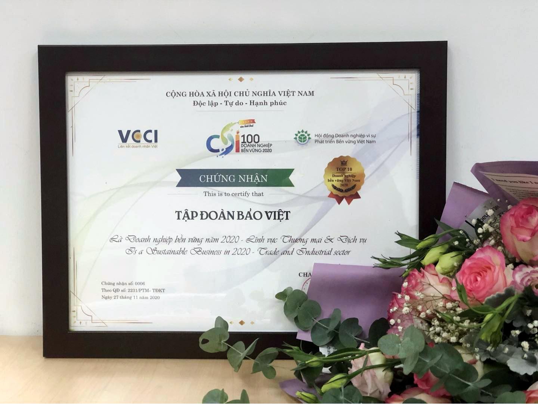 Tập đoàn Bảo Việt (BVH): Top 10 doanh nghiệp bền vững nhất Việt Nam  5 năm liên tiếp
