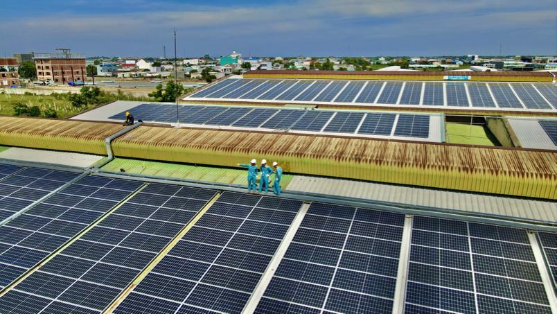 Sắp khánh thành một dự án điện mặt trời công suất lớn tại Long An