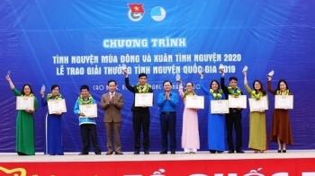 Tôn vinh 20 tập thể, cá nhân đạt giải thưởng Tình nguyện Quốc gia năm 2019