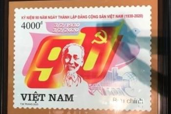 phat hanh bo tem ky niem 90 nam thanh lap dang cong san viet nam
